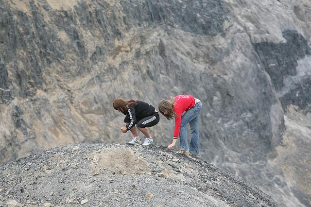 Quarry, Scree, Gravel, Stones, Girls, Crushed Stone