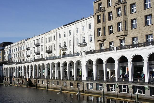 Building, Hamburg, Water, Quay, Port