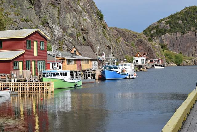 Newfoundland, Quidi Vidi, Boats, Wharf, Cove, Water