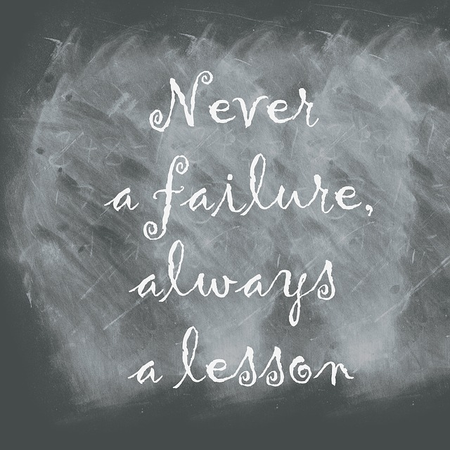 Chalkboard, Quote, Never A Failure Always A Lesson