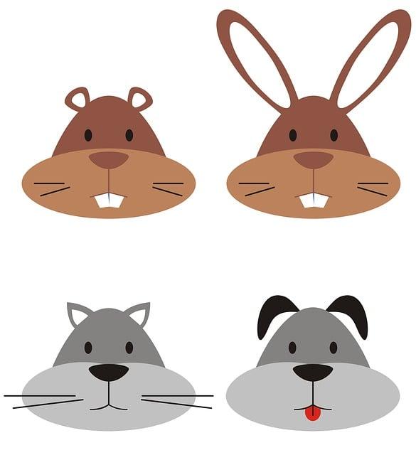 Face, Dog, Gopher, Animal, Logos, Cute, Cat, Rabbit