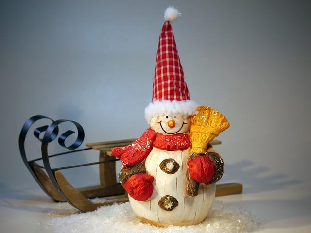Nicholas, Christmas, Hare, Rabbit, Snow Man, Slide