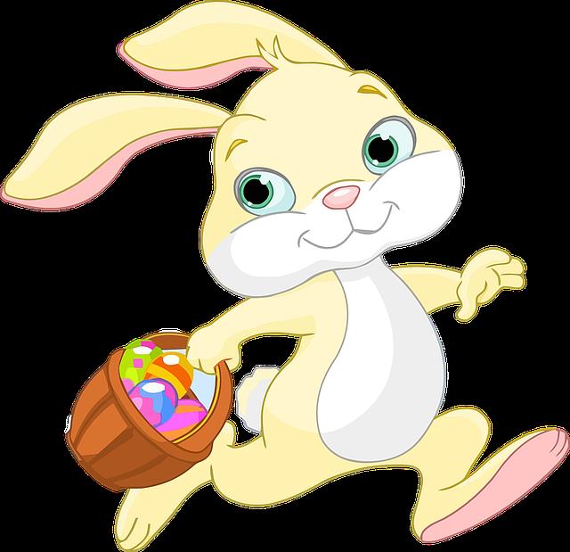 Easter, Bunny, Rabbit, Animal, Anthropomorphic, Basket