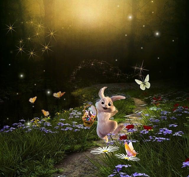 Fantasy, Bunny, Animal, Rabbit, Story, Nature, Scene