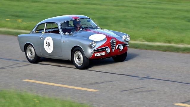 Race Track, Alfa Romeo Giulietta, Oldtimer, Sports Car