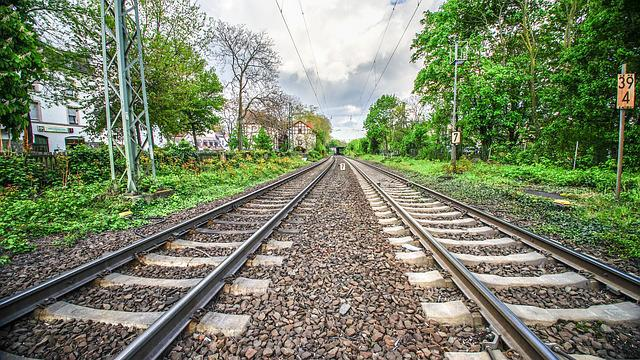 Railway Line, Race Track, Railway, Train, Travel