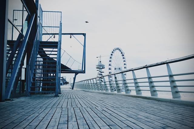 Pier, Rad, Low-angle, Scheveningen, The Hague