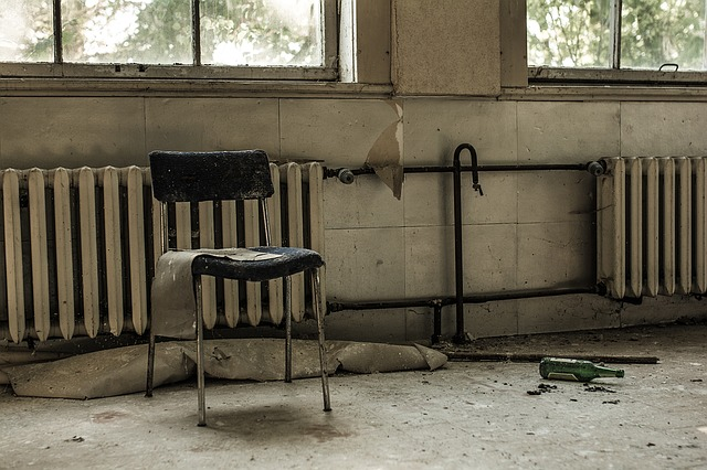 Lost Places, Chair, Abandoned, Old, Broken, Radiator