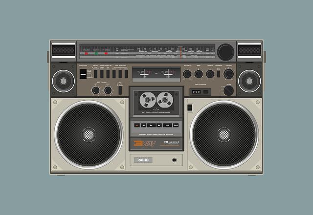Radio Cassette, Speaker, Sound, Audio, Music