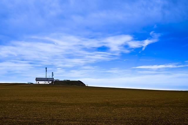 Radio Mast, Hill, Sky, Landscape, Green, Meadow, Clouds