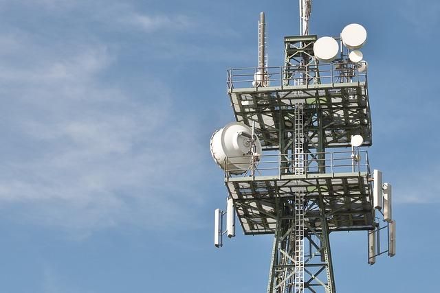 Radio Masts, Phone, Telephone Poles, Mast, Blue