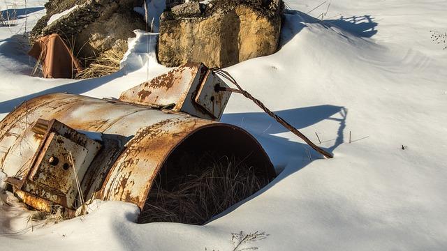 Barrel, Snow, Exclusion Zone, Winter, Radioactive