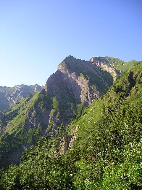 Mountains, Sky Horn, Rädlergrat, Allgäu, Alpine