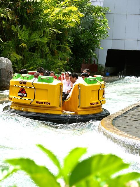 Rafting, Amusement Park, Universal Studios, Singapore