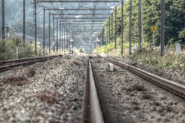 Railway Rails, Railway Tracks, Gleise, Autumn, Rail