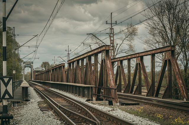 Tracks, Bridge, Traction, Rails, Railway