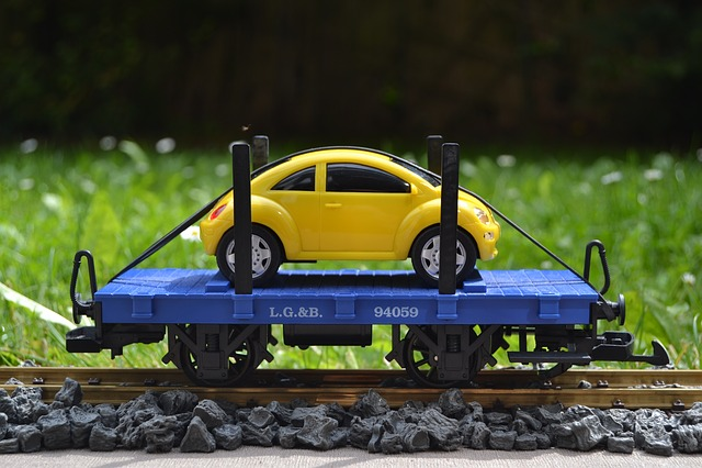 Railway, Lgb, Track 1, Flat Wagons, Autotransporter