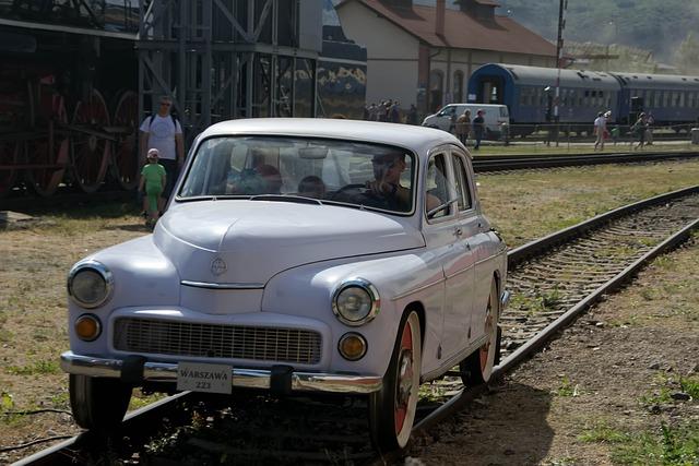 Car, Railway, Slovakia, Retro