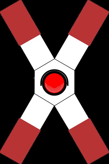 Railway Crossing, Lights, Caution, Warning, Danger