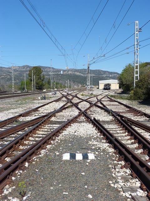Railway, Railway Line, Change Of Route, Train, To Train