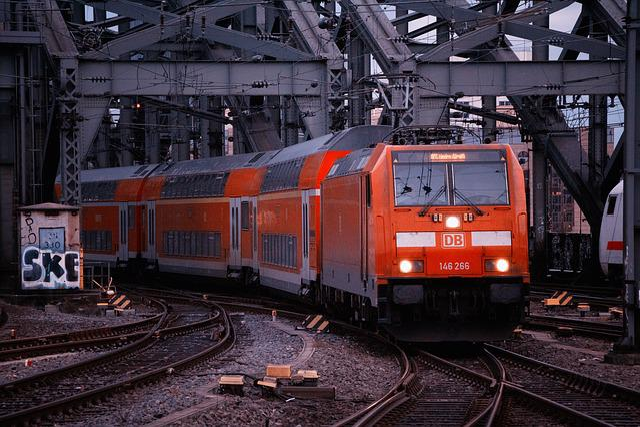 Train, Railway, Transport System, Motor, Railway Line