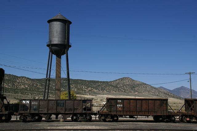 Water Tower, Ely, Nevada, Station, Northern, Railway