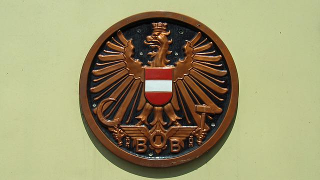 öbb Sign, Old, Railway, Federal Eagle
