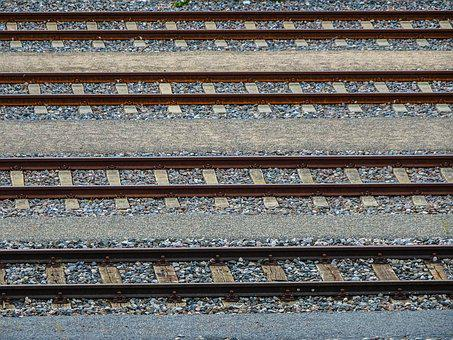 Train, Gleise, Traces, Parallel, Seemed, Railway