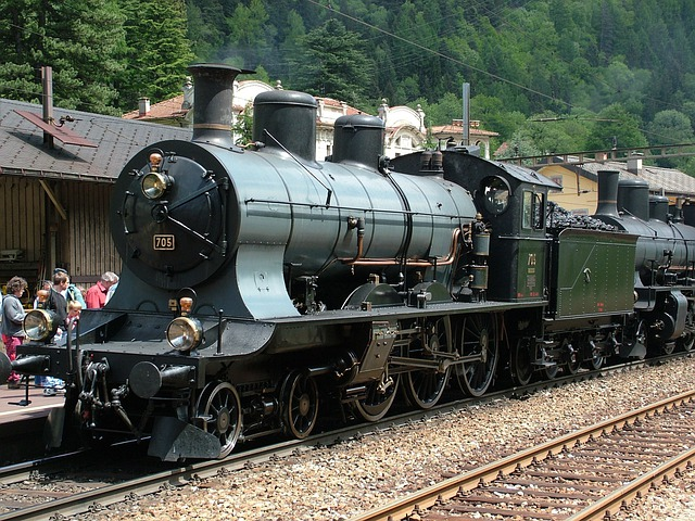 Railway, Steam Locomotive, Railcar, Historically