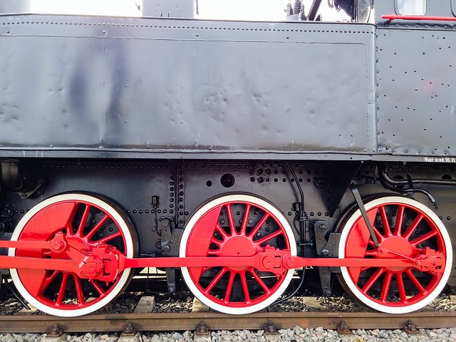 Locomotive, Train, Wheels, Rails, Railway