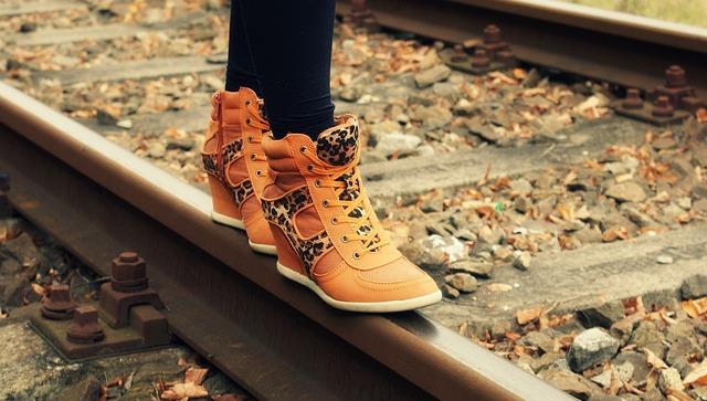 Boots, Travel, Railroad Tracks, Railway, Shoes, Feet