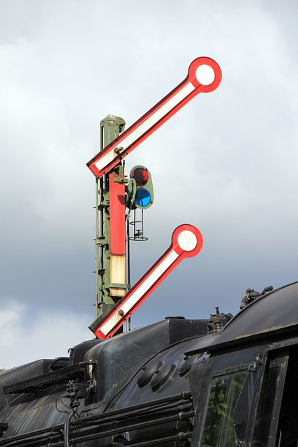 Railway, Train, Signal, Stop Signal, Bundesbahn