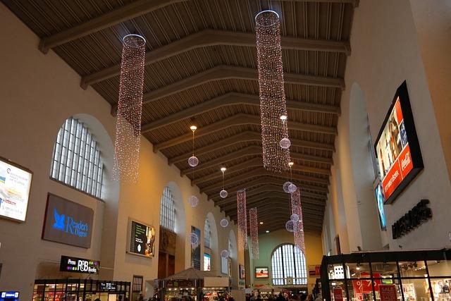Train Hall Stuttgart, Concourse, Railway Station