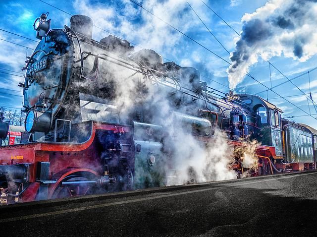 Train, Railway, Railway Station, Steam Locomotive, Hdr