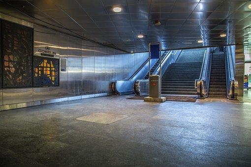 Underground, Railway Station, Subway, Trainstation