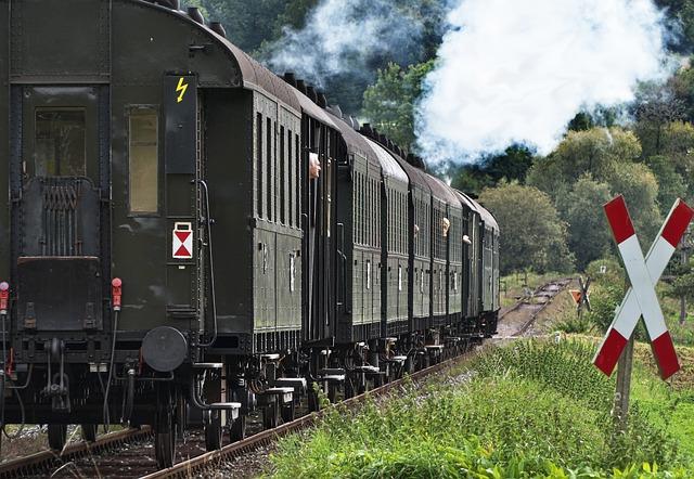 Museum Railway, Wagons, Railway, Steam Locomotive