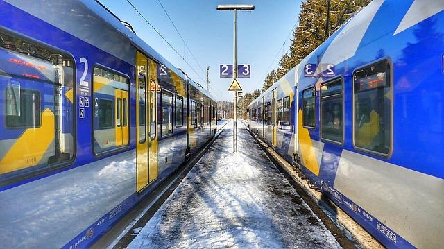 Train, Railway, Station, Transport System, Railway Line