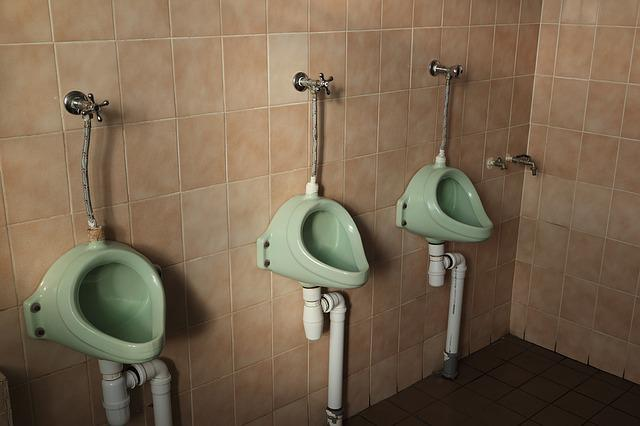Latvia, Liepaja, Railway, Station, Toilets, Urinals