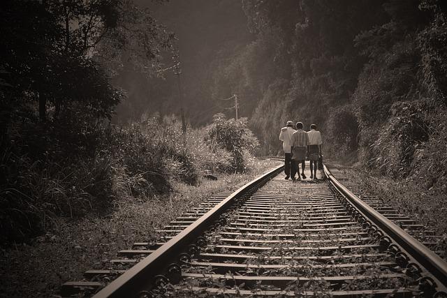 Rail Road, People Walking, Walk, Railway, Employees