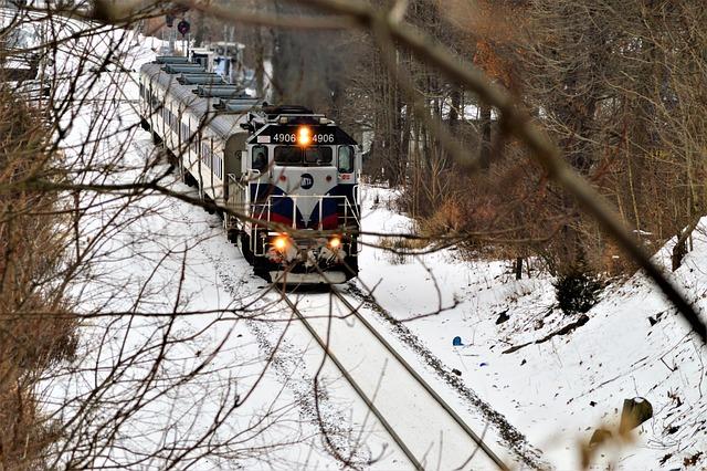 Winter, Train, The Train Path, Railway, Snow