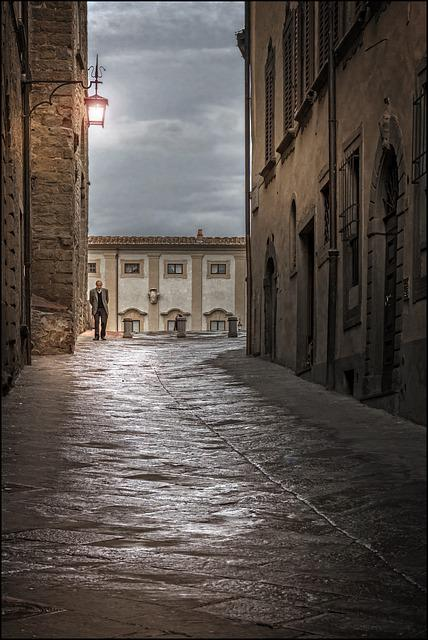 Architecture, Old, Rain, Sunset, Italy, Old Walls