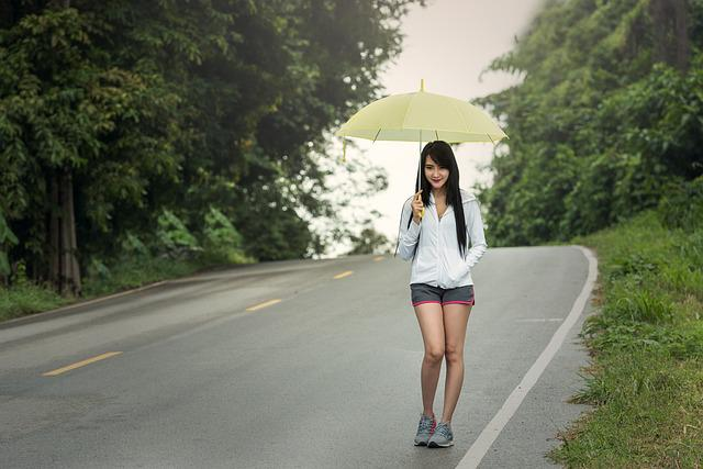 Rain, Umbrella, Adult, Autumn, Frankly, Cloud, Color