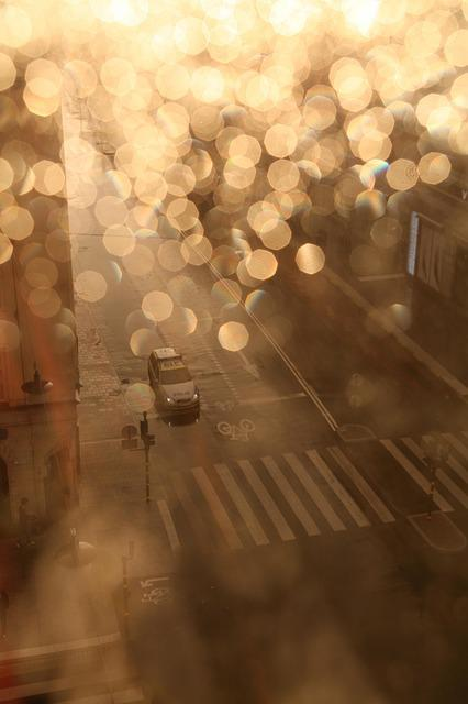 Light, Pedestrian Crossing, City, Rain