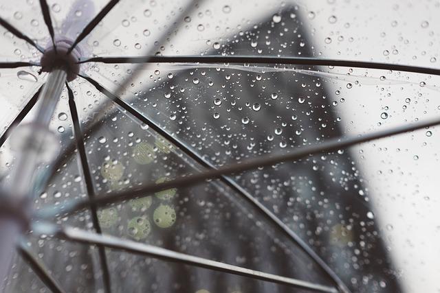 Rain, Umbrella, Plastic, Water, Cold, Weather, Building