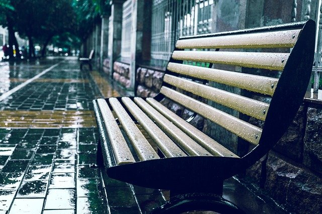 Bench, Rain, With The Beat