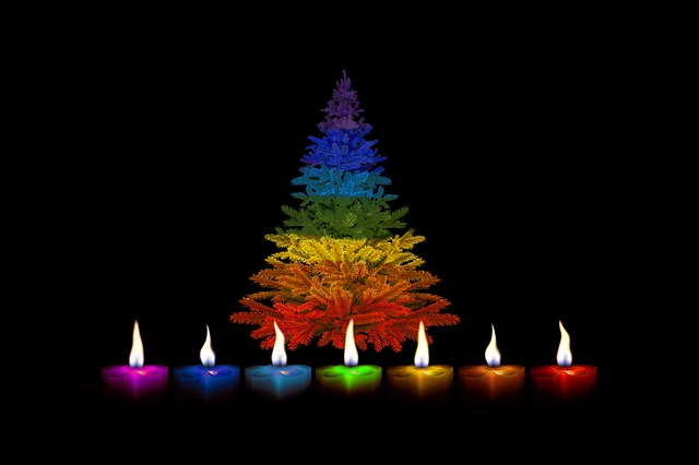 Candles, Christmas, Colorful, Rainbow, Rainbow Colors