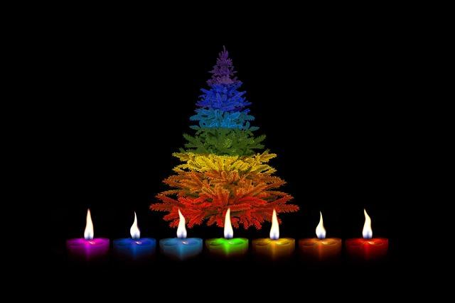 Candles, Christmas, Colorful, Rainbow, Rainbow Colors