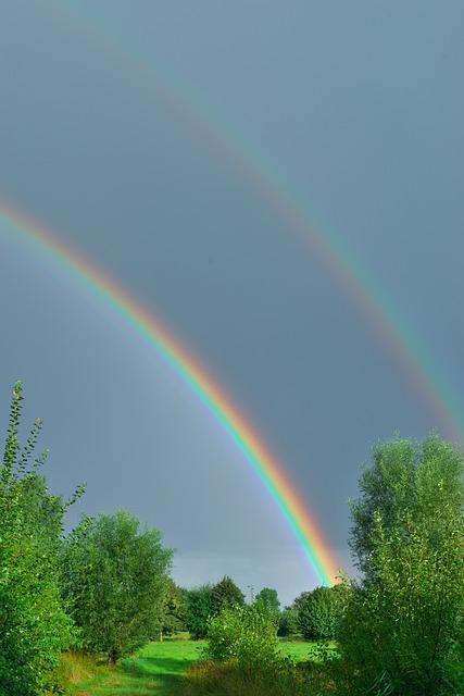 Sunrise, Rainbow, Good Morning, Friendly, Skies