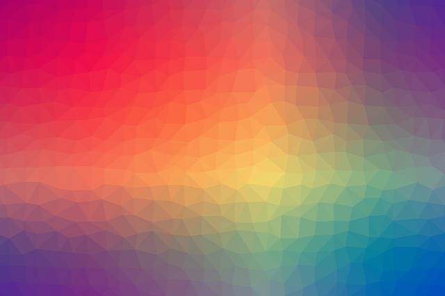 Colorful, Rainbow, Gradient, Geometric, Shapes