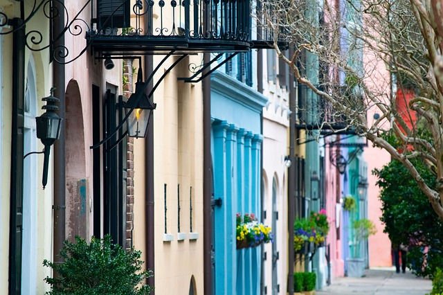 Charleston, South Carolina, Rainbow Row, Historic
